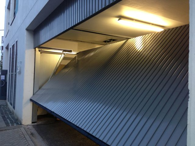 Et500 Car Park Door Installed In Plymouth South West