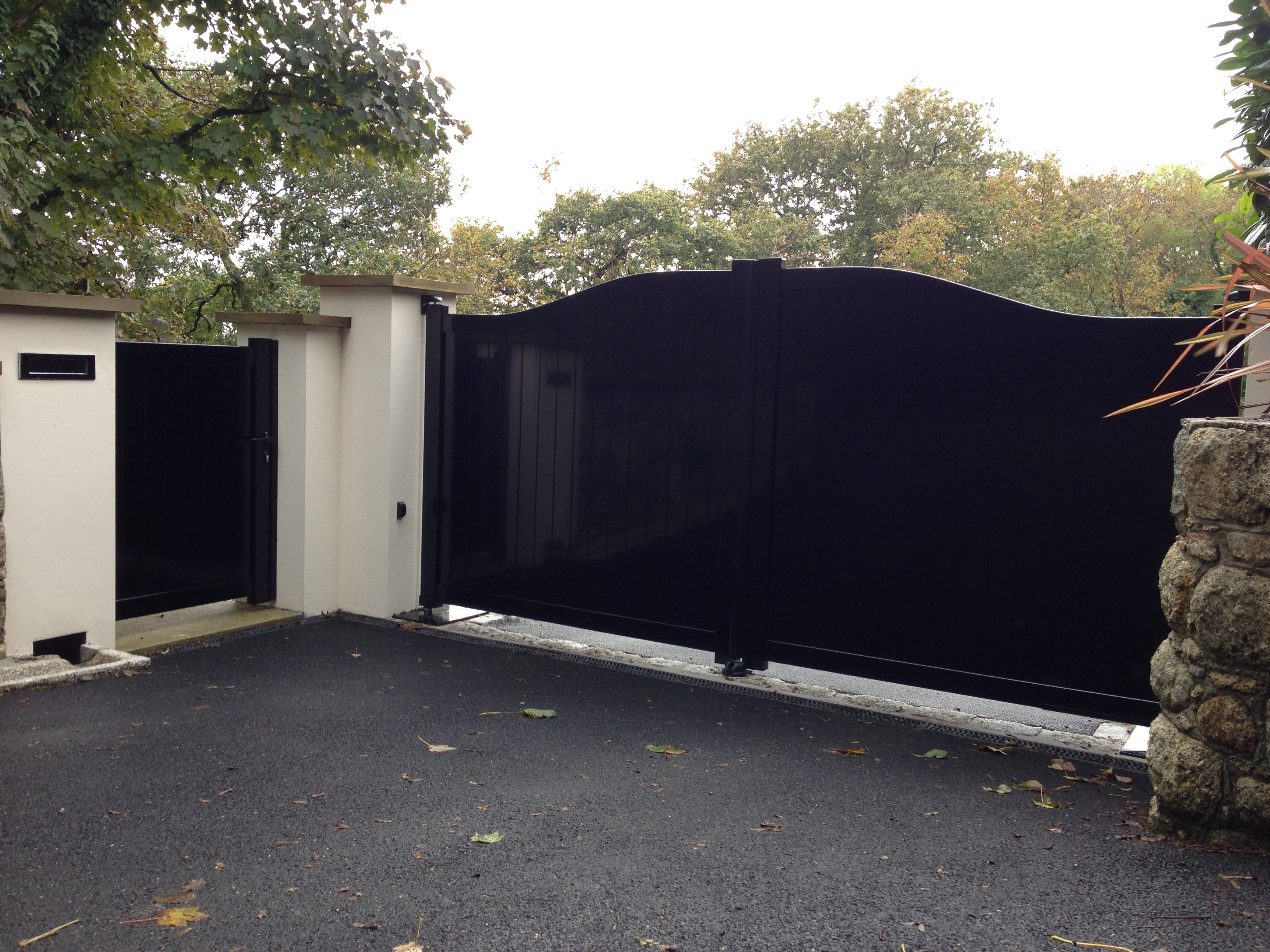 Black Aluminium Gates South West Garage Doors