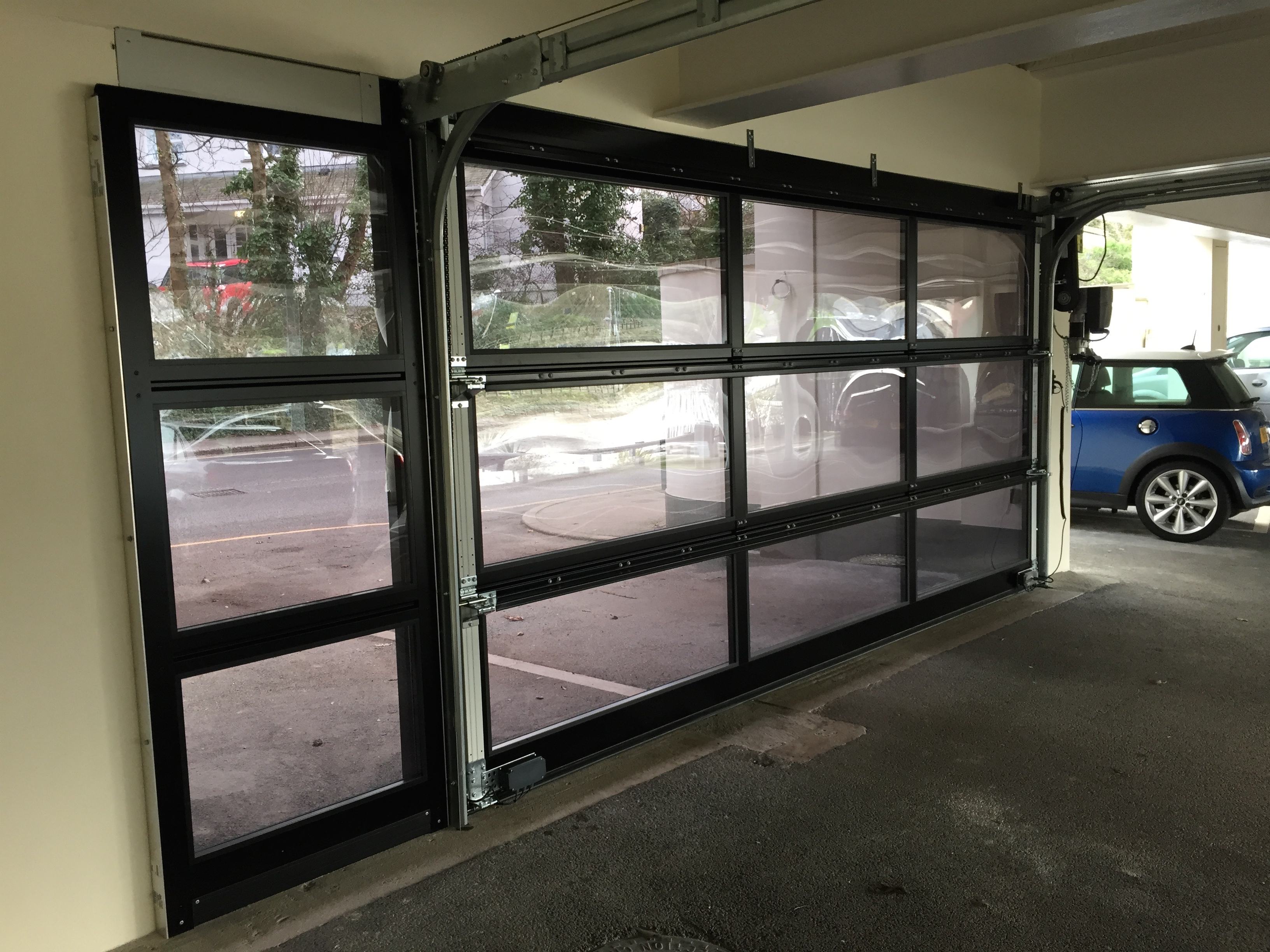 Newly Installed Hormann Alr Vitraplan Sectional Garage