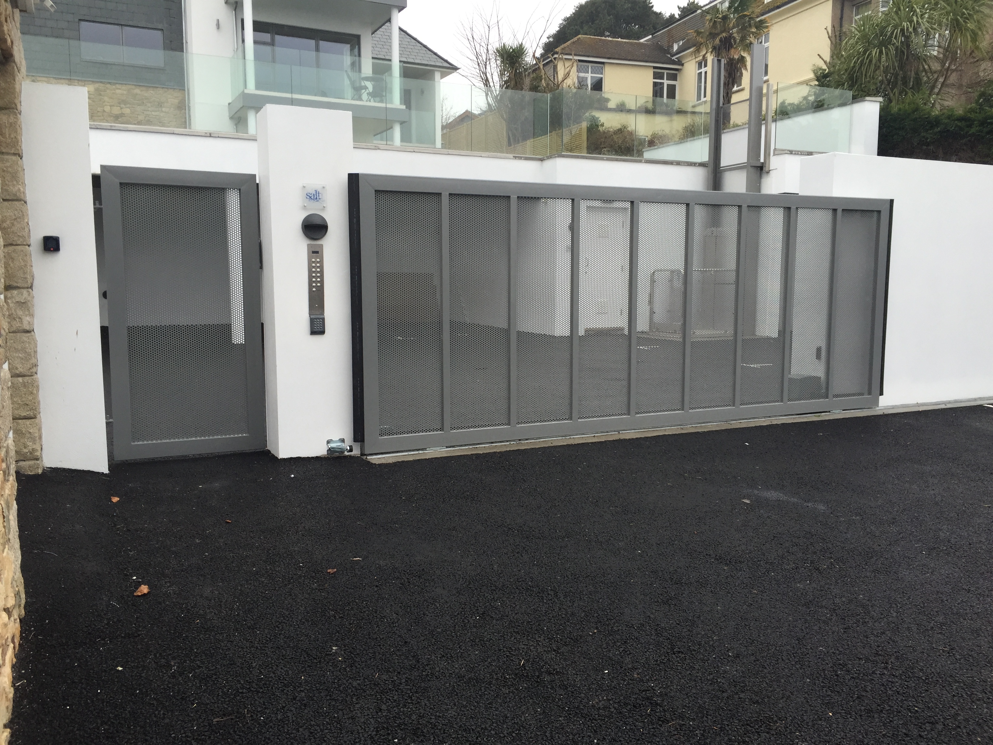 Stainless Steel Sliding Automated Gate In St Ives South