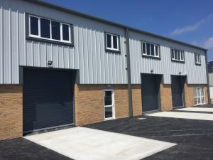 3 x Hormann Decotherm industrial doors in Cornwall