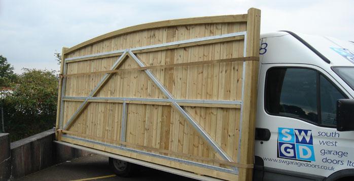 Timber Sliding Gates South West Garage Doors