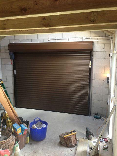 Golden Oak Rollmatic Roller Garage Doors In Cornwall South West