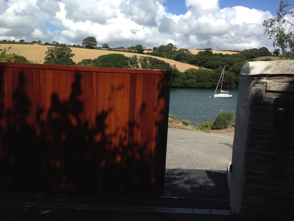 Iroko electric sliding gate,Falmouth