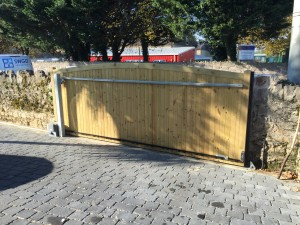 Electric timber sliding gates in Plymouth